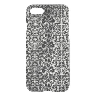 Old Movie Style Black White Damask Aged Pattern iPhone 8/7 Case
