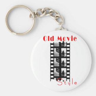 Old Movie Style Key Ring