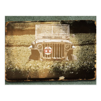 Old MP Jeep postcard Postcard