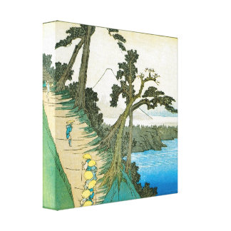 Old Mt. Fuji Print. Fuji-san. Stretched Canvas Print