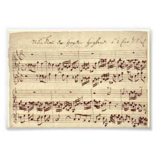 Old Music Notes - Bach Music Sheet Art Photo
