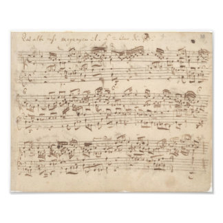 Old Music Notes - Bach Music Sheet Photo Print