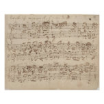 Old Music Notes - Bach Music Sheet Posters