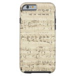 Old Music Notes - Chopin Music Sheet Tough iPhone 6 Case