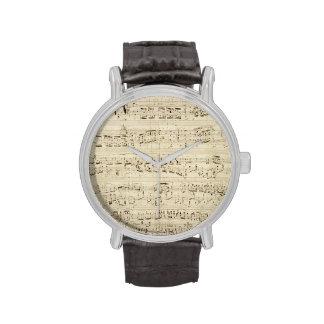 Old Music Notes - Chopin Music Sheet Watch