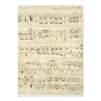 Old Music Notes - Chopin Music Sheet 13 Cm X 18 Cm Invitation Card