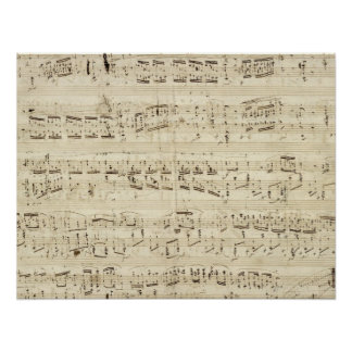 Old Music Notes - Chopin Music Sheet Poster