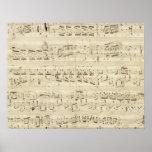 Old Music Notes - Chopin Music Sheet Print