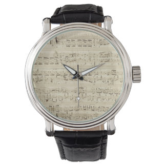 Old Music Notes - Chopin Music Sheet Watch