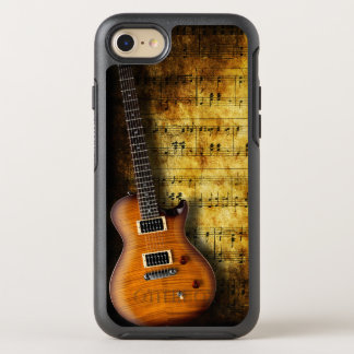 Old Music Sheet Guitar OtterBox Symmetry iPhone 8/7 Case