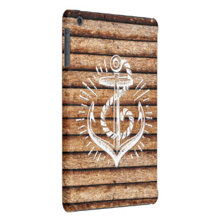 Old Nautical Anchor Wood iPad Mini Covers