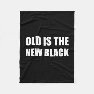 Old New Black Fleece Blanket