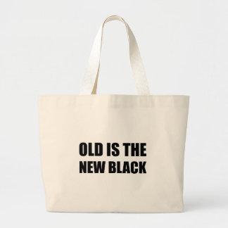 Old New Black Large Tote Bag