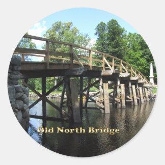 Old North Bridge - Revolutionary War Concord MA Classic Round Sticker