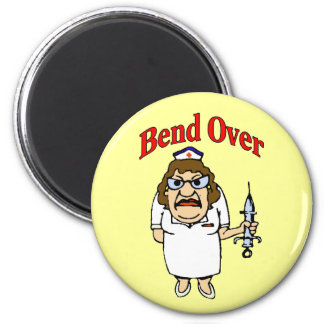 Old Nurse Bend Over Magnet