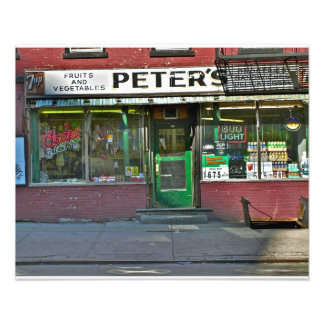 Old NYC Grocery Store Photograph