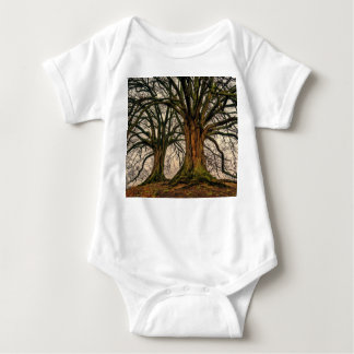 Old Oak Tree in Winter Baby Bodysuit