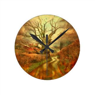 Old Oak Tree ....... Round Clock