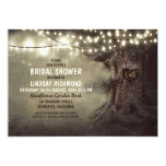 old oak tree twinkle lights bridal shower invite