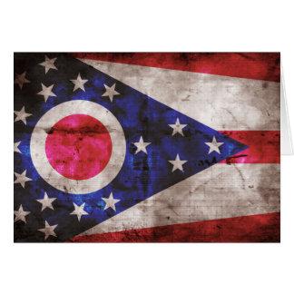 Old Ohio Flag; Card