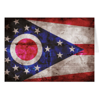 Old Ohio Flag; Note Card
