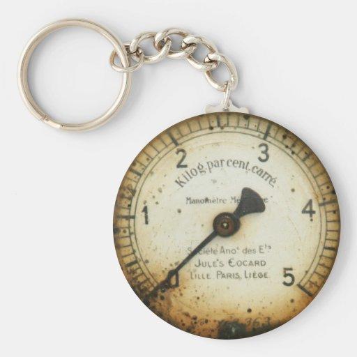 old oil pressure gauge / instrument / dial / meter key chains