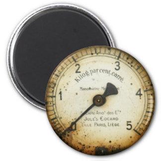 old oil pressure gauge / instrument / dial / meter magnet