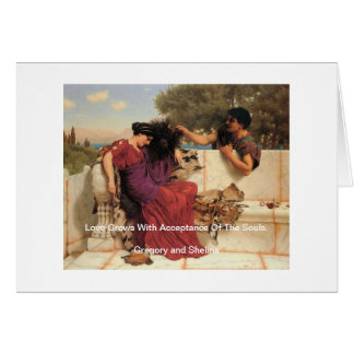 Old Old Story Greek Couple Card