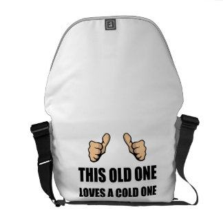 Old One Loves Cold One Courier Bags
