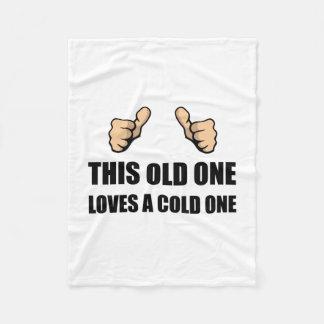 Old One Loves Cold One Fleece Blanket