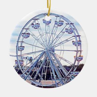 Old Orchard Beach Ferris Wheel New England Ceramic Ornament