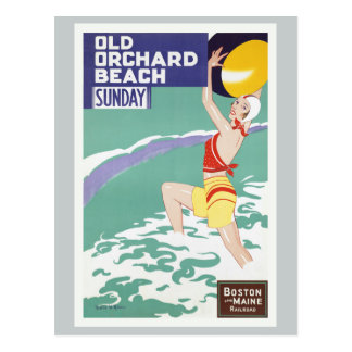 Old Orchard Beach Vintage Travel Postcard