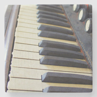 Old Organ Keys Stone Coaster