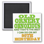 Old Ornery Obnoxious 95th Birthday Gifts Refrigerator Magnet