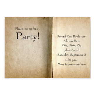 Old Pages Book Invitation