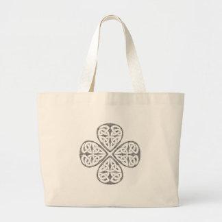 old paint shamrock celtic knot tote bag