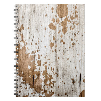 Old painted wood background notebook