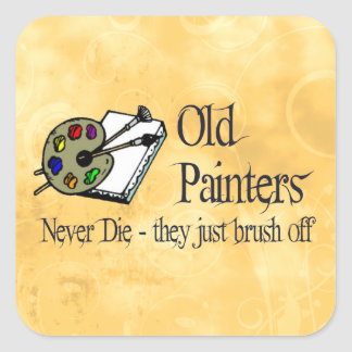 Old Painters Square Sticker