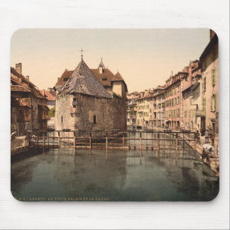 Old Palace and Canal, Annecy, France Mouse Pad