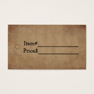 Old Paper Hang Tag Business Card
