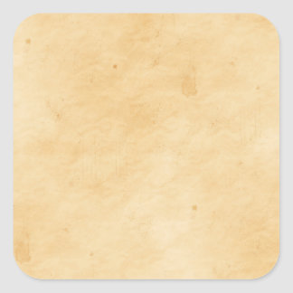 Old Parchment Background Stained Mottled Look Square Sticker