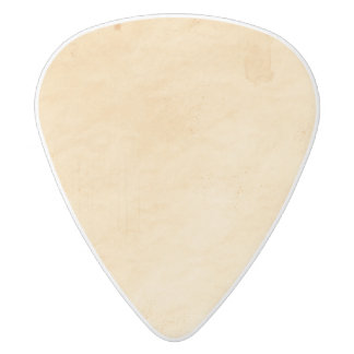 Old Parchment Background Stained Mottled Look White Delrin Guitar Pick