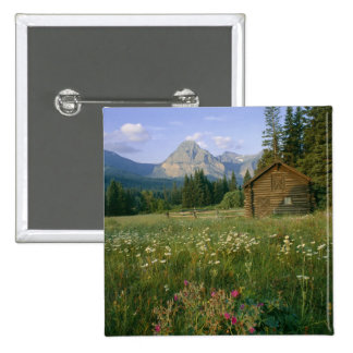 Old Park Service cabin in the Cut Bank Valley 15 Cm Square Badge