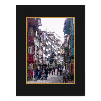 Old part of town Zurich Postcard