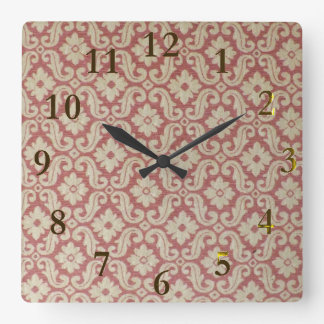 old pattern aotearoa new zealand square wall clock