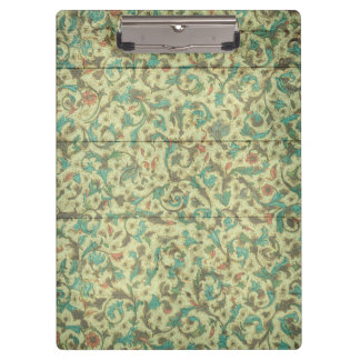 Old Pattern FloralWooden Background Modern Elegant Clipboard