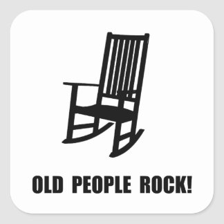 Old People Rock Square Sticker