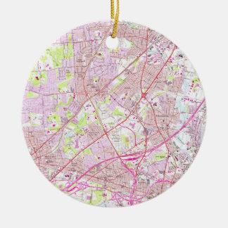 Old Perth Amboy, Rahway & Metuchen NJ Map (1956) Ceramic Ornament