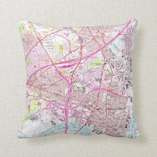 Old Perth Amboy, Rahway & Metuchen NJ Map (1956) Cushion