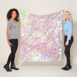 Old Perth Amboy, Rahway & Metuchen NJ Map (1956) Fleece Blanket